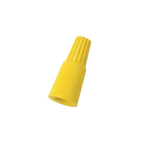 IDEAL Electrical 30-164Y #8-18 AWG Model 64 MudBug Utility Wire Connectors (Yellow, Box of 25)
