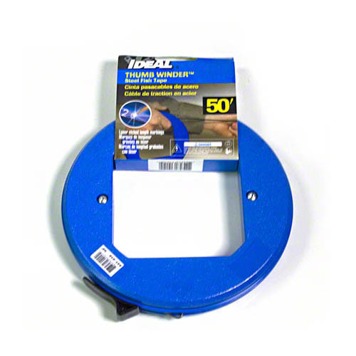 IDEAL Electrical 31-010 7 in. Thumb-Winder Case w/50 ft. Blued-Steel Fish Tape