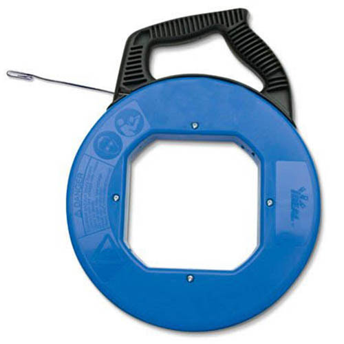 IDEAL Electrical 31-056 12 in. Tuff-Grip Pro Case w/120 ft. Blued-Steel Fish Tape