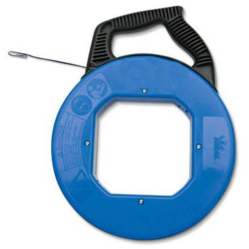 IDEAL Electrical 31-059 12 in. Tuff-Grip Pro Case w/50 ft. Blued-Steel Fish Tape