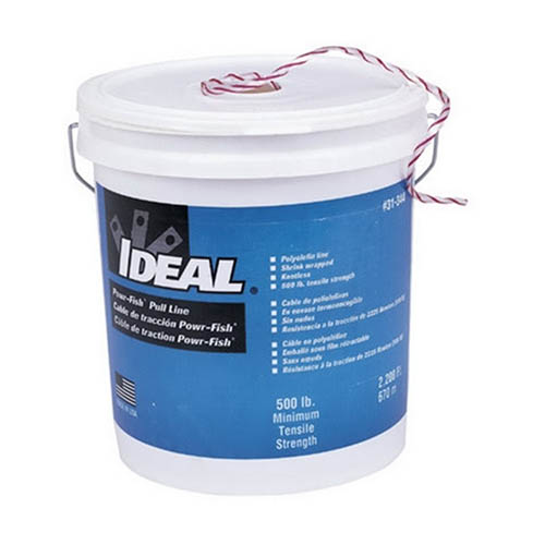 IDEAL Electrical 31-344 Extra Heavy-Duty Powr-Fish Pull-Line (2,200 ft./ Bucket)