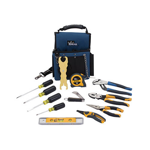 IDEAL Electrical 35-790 13-Piece Journeyman Electrician's Hand Tool Kit