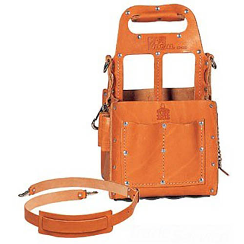 IDEAL Electrical 35-969 Premium Tuff-Tote Leather Tool Carrier (Tan)