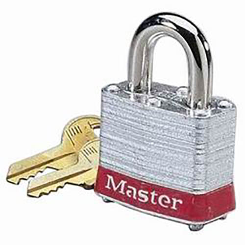 IDEAL Electrical 44-906 3/4 in. Shackle Clearance Steel Padlock (Red)
