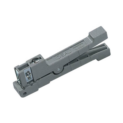 IDEAL Electrical 45-162 RG-174, RG-187 Ringer Adjustable Blade Cable Stripper (Gray)