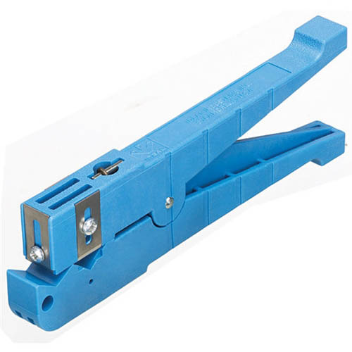 IDEAL Electrical 45-164 1/4 in. - 9/16 in. O.D. Ringer Adjustable Blade Cable Stripper (Blue)