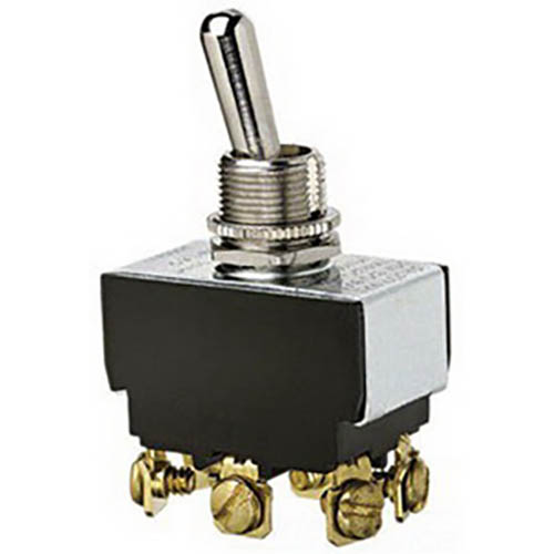 IDEAL Electrical 774015BK DPDT/Screw Heavy-Duty Toggle Switch/On-On Circuitry/Bulk of 100