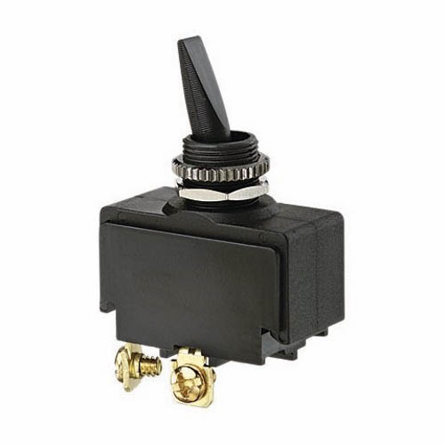 IDEAL Electrical 774019 SPST/Screw Double-Insulated Plastic Toggle Switch/On-Off Circuitry