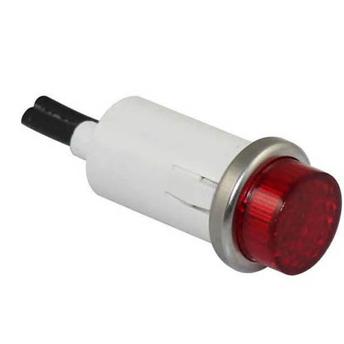 IDEAL Electrical 775111 14V/.08A Incandescent Raised Indicator Light w/6 in. Wire Leads (Red)