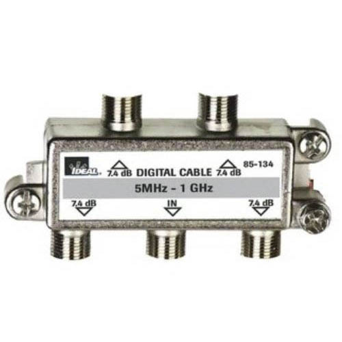 IDEAL Electrical 85-134 4-Way/5MHz-1GHz Cable TV Cable Splitter