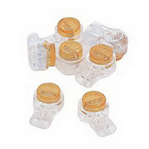 IDEAL Electrical 85-950 UY-I/2-Wire Butt Splice Insulation Displacement Connectors (Yellow, 25)