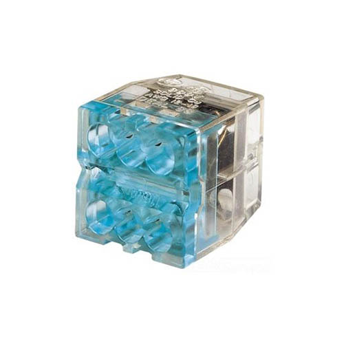 IDEAL Electrical 30-688 Model 88 6-Port (Stacked) In-Sure Push-In Wire Connectors (Blue/2,500)