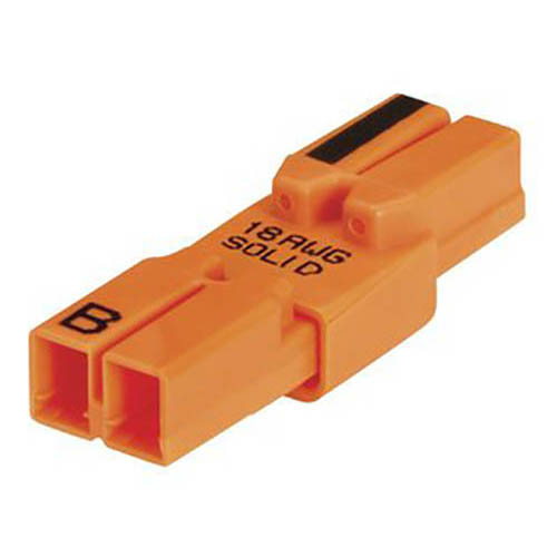IDEAL Electrical 30-682 Model 182 2-Wire PowerPlug Luminaire Disconnects (Orange, Box of 2,500)