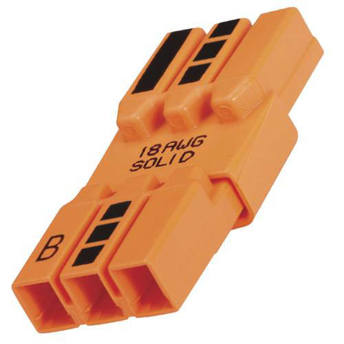 IDEAL Electrical 30-683 Model 183 3-Wire PowerPlug Luminaire Disconnects (Orange, Box of 2,500)