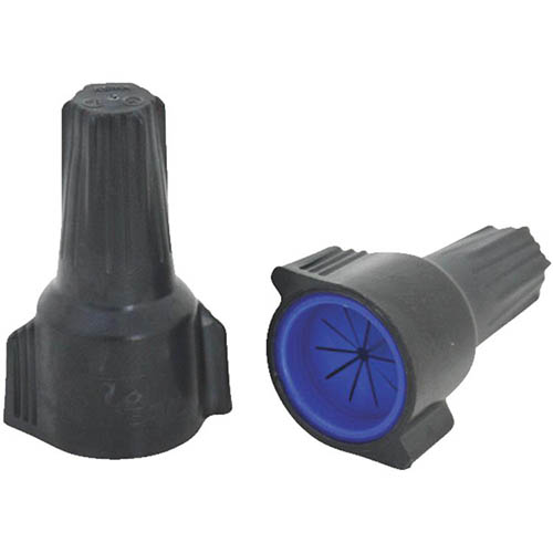 IDEAL Electrical 30-1263J #6-16 AWG Model 63 WeatherProof Wire Connectors (Gray/Dark Blue/50)