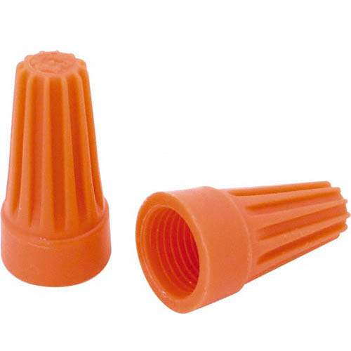 IDEAL Electrical WT3-1 #22-14 AWG Model WT3 WireTwist Wire Connectors (Orange, Box of 100)