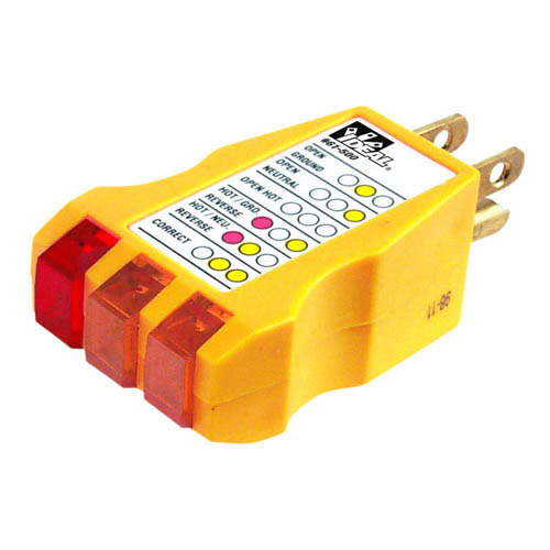 Ideal Electrical Testers : Ideal electrical receptacle tester warns against