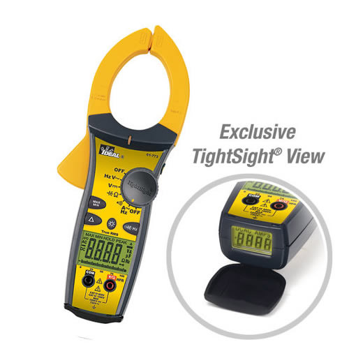 IDEAL Electrical 61-773 1000A AC Clamp Meter w/TRMS & TightSight