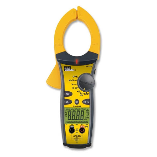 IDEAL Electrical 61-775 1000A AC/DC Clamp Meter w/TRMS & TightSight