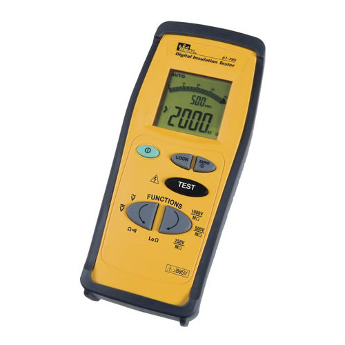 IDEAL Electrical 61-795 Hand-Held Insulation Tester Cat4-600V