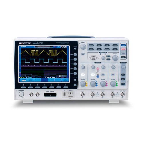 Instek GDS-2074E 70 MHz, 4-Channel 1 GS/s, 10 Mpts. with USB/LAN, VPO Digital Storage Oscilloscope