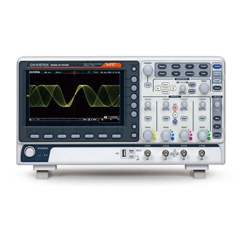 Instek GDS-2104E 100 MHz, 4-Channel 1 GS/s, 10 Mpts. with USB/LAN, VPO Digital Storage Oscilloscope