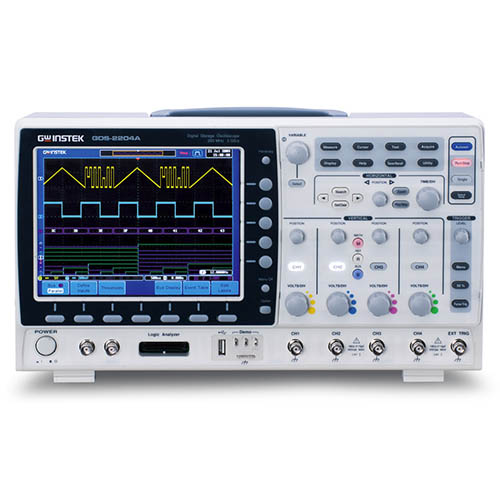 Instek GDS-2202E 200 MHz, 2-Channel 1 GS/s, 10 Mpts. with USB/LAN, VPO Digital Storage Oscilloscope