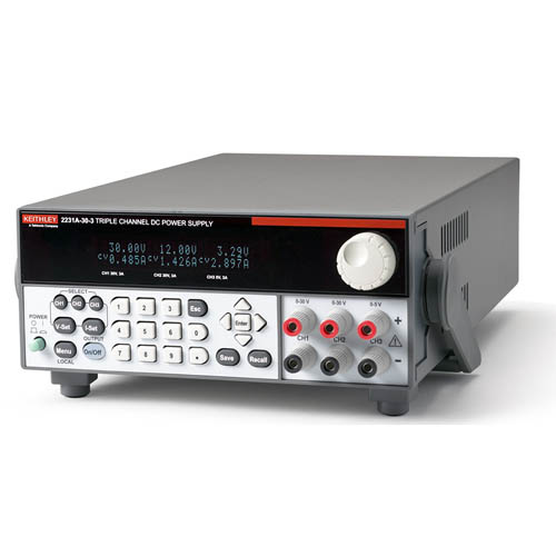Keithley 2231A-30-3 Triple-Output DC Power Supply, 195W (Front/Top)
