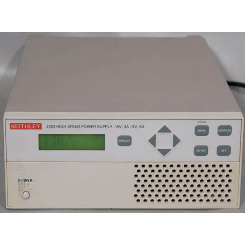 Keithley 2303 High Speed Precision Power Supply with Readback/GPIB Interface, 5mA/45W (Front/Top)
