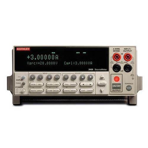 Keithley 2420 SourceMeter (SMU) Instrument with GPIB & RS-232 Interfaces, 3A