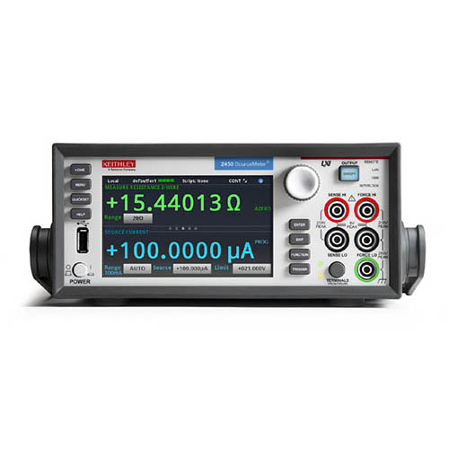 Keithley 2450 Graphical SourceMeter (SMU) Instrument with GPIB, USB, & Ethernet Interfaces