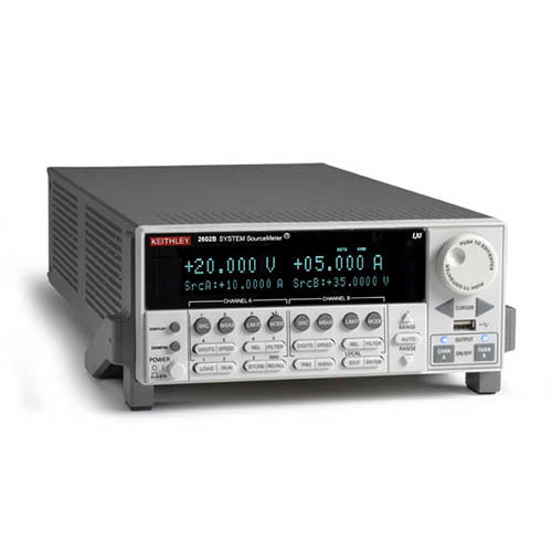 Keithley 2602B Dual-Channel System System SourceMeter SMU w/USB, LXI-C, GPIB, RS-232, I/O, 3A DC/10A (Front/Top)