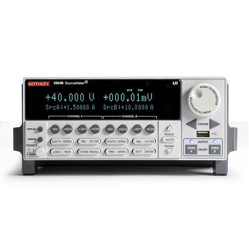 Keithley 2604B 2-Ch System SourceMeter (SMU) w/USB, LXI-C, GPIB, RS-232, I/O, 3A DC/10A (Benchtop)