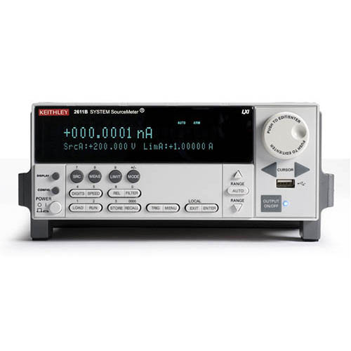 Keithley 2611B Single-Channel System SourceMeter (SMU) with USB, LXI-C, GPIB, RS-232, I/O, 200V/10A