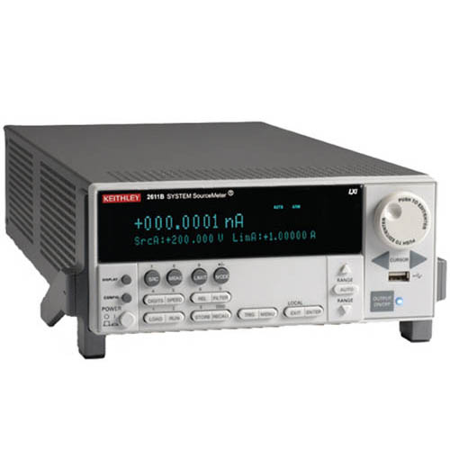 Keithley 2611B Single-Channel System SourceMeter (SMU) with USB, LXI-C, GPIB, RS-232, I/O, 200V/10A (Front/Top)