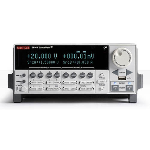 Keithley 2614B 2-Ch System SourceMeter (SMU) with USB, LXI-C, GPIB, RS-232, I/O, 200V/10A (Benchtop)