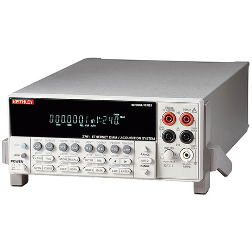 Keithley 2701. DMM/Data Acquisition/Datalogging System with 2-Slot Switch/Ethernet/LAN & RS-232 (Front/Top)