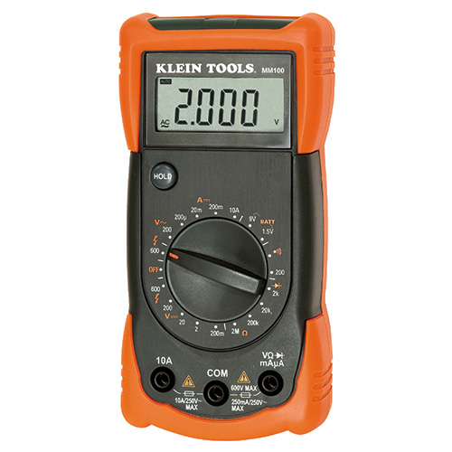Klein tools mm100 manual ranging multimeter at test for Industrial motor control 7th edition answer key