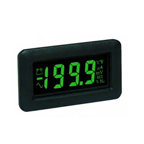 Lascar DPM 750S-EB-G 3 1/2-Digit LCD Panel Voltmeter Module, Green LED Backlight