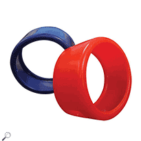Mastercool 91553-E Set of Red & Blue Large Gauge Protectors (3 1/8