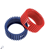 Mastercool 93553-E Set of Red and Blue Gauge Protectors (2 1/2