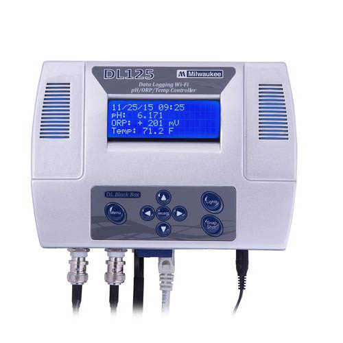 Milwaukee DL125 pH, ORP and Temperature Controller with WiFi and Data Logging Interface
