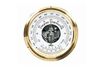 Oakton WD-03316-70 Aneroid barometer, mbar/inches mercury (Hg) with glass thermometer. Wall mount.