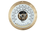 Oakton WD-03316-72 Aneroid barometer, mbar/mm mercury (Hg) with glass thermometer. Wall mount.