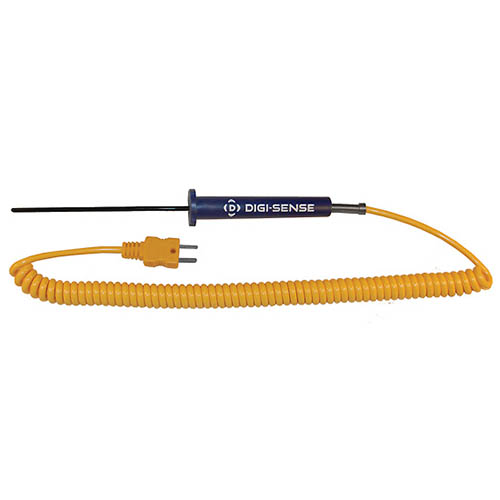 Oakton WD-08441-12 Low-Cost PTFE-Coated General-Purpose Thermocouple Probe, Type-K