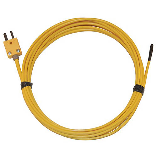 Oakton WD-08466-04 Type-K PVC-Insulated Thermocouple Probe, Epoxy-Coated Tip, Flexible, Ungrounded Junction, 20-Gauge Wire
