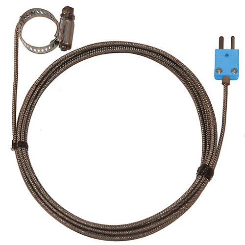 Oakton WD-08469-34 Hose Clamp Surface Thermocouple Probe, Type-T, 0.5-1.5