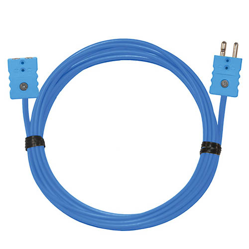 Oakton WD-08505-37 Thermocouple Extension Cable, Type-T, 25 ft. w/standard connectors