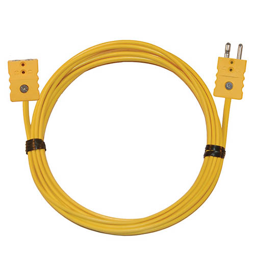 Oakton WD-08516-32 Thermocouple Extension Cable, Type-K, 10 ft. w/Standard Connectors