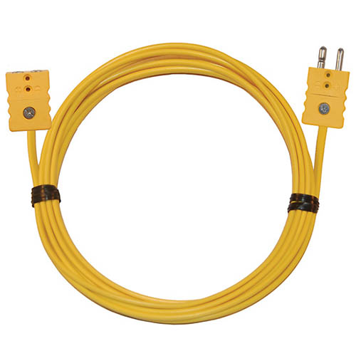 Oakton WD-08516-37 Thermocouple Extension Cable, Type-K, 25ft. w/standard connectors
